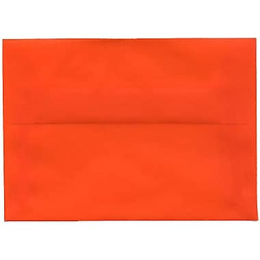 JAM Paper – Enveloppes translucides A1, orange, 250/paquet