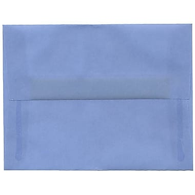 JAM Paper® A2 Invitation Envelopes, 4.38 x 5.75, Surf Blue Translucent Vellum, 50/Pack (1591647I)