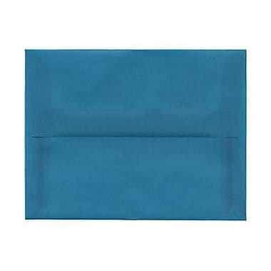 JAM Paper® A2 Invitation Envelopes, 4.38 x 5.75, Aqua Blue Translucent Vellum, 250/Pack (1591674AH)