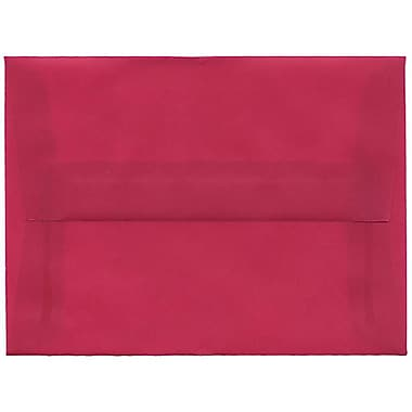 JAM Paper – Enveloppes translucides A6, magenta, 250/paquet