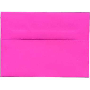 JAM Paper® A7 Invitation Envelopes, 5.25 x 7.25, Brite Hue Ultra Fuchsia Pink, 250/Pack (15916H)