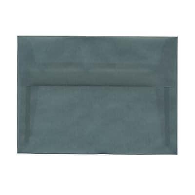 JAM Paper® A7 Invitation Envelopes, 5.25 x 7.25, Ocean Blue Translucent Vellum, 250/box (1591743H)