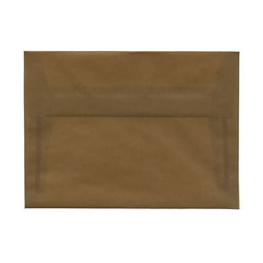 JAM Paper® A7 Invitation Envelopes, 5.25 x 7.25, Earth Brown Translucent Vellum, 250/box (1591779AH)