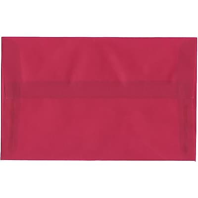 JAM Paper® A10 Invitation Envelopes, 6 x 9.5, Translucent Vellum Magenta Pink, 50/pack (1591790I)