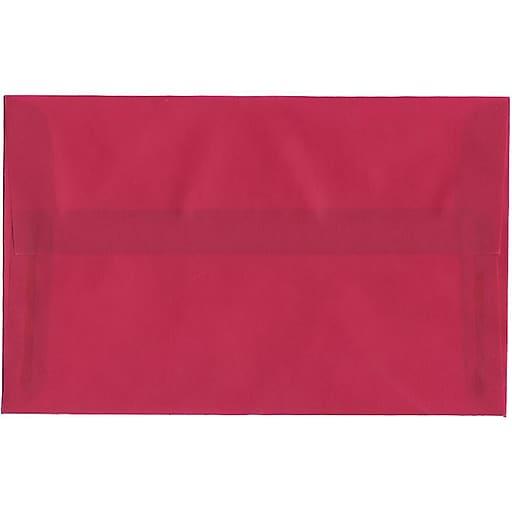 JAM Paper® A10 Translucent Vellum Invitation Envelopes, 6 x 9.5, Magenta Pink, Bulk 250/Box (1591790H)