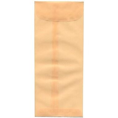 JAM Paper – Enveloppes commerciales nº 10 (4,13 x 9,5 po) en papier vélin translucide, ocre printanier, boîte de 50