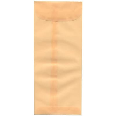 JAM Paper® #10 Policy Envelopes, 4 1/8 x 9 1/2, Spring Ochre Ivory Translucent Vellum, 500/box (1591903H)