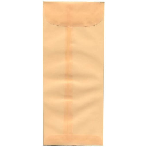 JAM Paper® #10 Policy Business Translucent Vellum Envelopes, 4.125 x 9.5, Spring Ochre Ivory, Bulk 500/Box (1591903H)