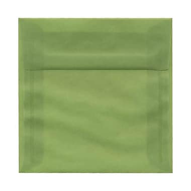 JAM Paper® 6.5 x 6.5 Square Envelopes, Leaf Green Translucent Vellum, 250/box (1592115H)