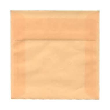 JAM Paper – Enveloppes translucides carrées de 6,5 x 6,5 po, ocre printanière, 50/paquet