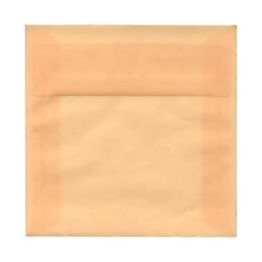 JAM Paper – Enveloppes translucides, 5,5 x 5,5 po, ocre printanier, 250/paquet