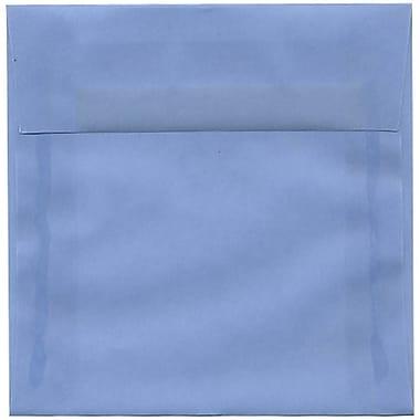 JAM Paper – Enveloppes carrées translucides, 6 x 6 po, bleu de mer, 250/paquet