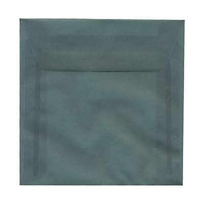 JAM Paper® 5.5 x 5.5 Square Envelopes, Ocean Blue Translucent Vellum, 250/box (PACV502H)