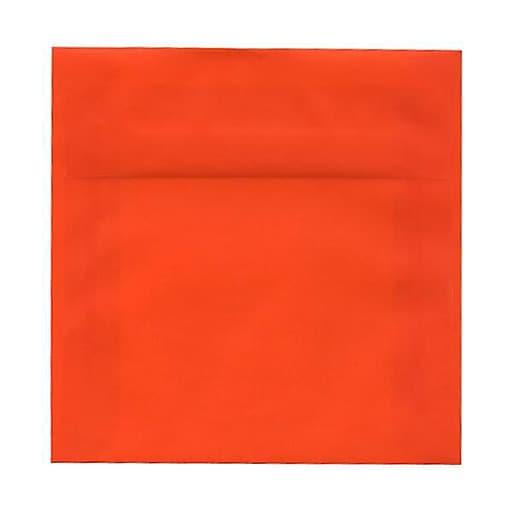 JAM Paper® 6.5 x 6.5 Square Translucent Vellum Invitation Envelopes, Orange, Bulk 250/Box (1592120H)