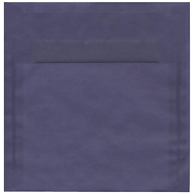 JAM Paper® 8.5 x 8.5 Square Envelopes, Wisteria Purple Translucent Vellum, 250/Pack (1592157H)