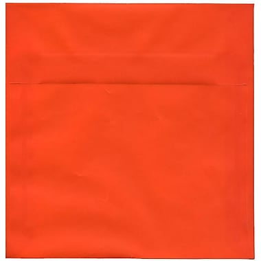 JAM Paper® 8.5 x 8.5 Square Envelopes, Orange Translucent Vellum, 50/Pack (1592163I)