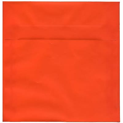 JAM Paper® 8.5 x 8.5 Square Envelopes, Orange Translucent Vellum, 250/box (1592163H)