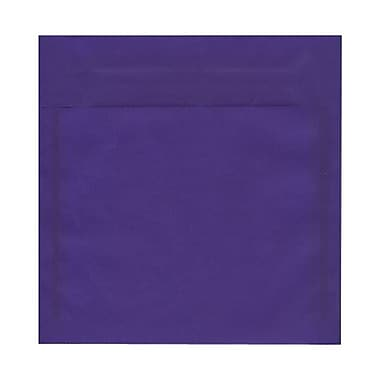 JAM Paper® 8.5 x 8.5 Square Envelopes, Purple Translucent Vellum, 50/Pack (1592167I)