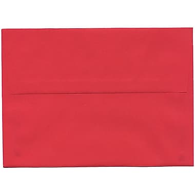 JAM Paper® A7 Invitation Envelopes, 5.25 x 7.25, Brite Hue Red Recycled, 250/Pack (15945H)