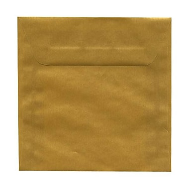 JAM Paper® 6.5 x 6.5 Square Envelopes, Gold Translucent Vellum, 250/Pack (1594761H)