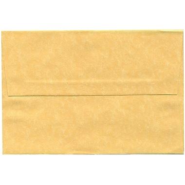 JAM Paper – Enveloppes A8 en papier recyclé sulfurisé de couleur vieil or, 250/paquet