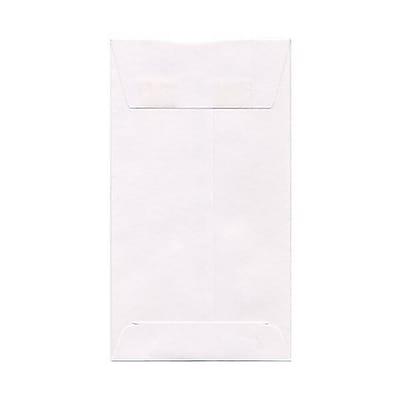 JAM Paper® #6 Coin Envelopes, 3 3/8 x 6, White, 250/box (1623184H)