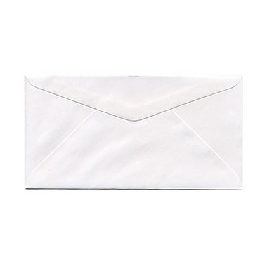 JAM PaperMD – Enveloppes blanches no 7,75 (3,88 x 7,5 po), blanc, 500/paquet