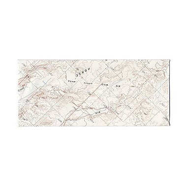 JAM Paper® #10 Business Envelopes, 4 1/8 x 9.5, Made from Real Surplus Maps, 500/Pack (163729H)