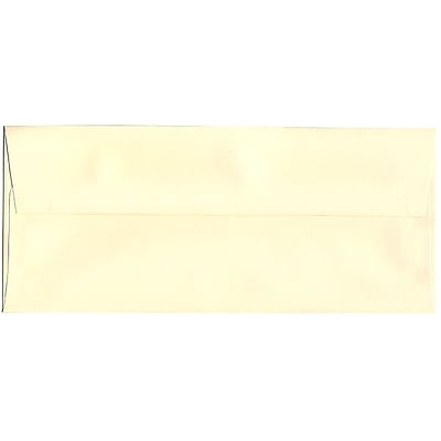 JAM Paper® #10 Business Envelopes, 4 1/8 x 9 1/2, Strathmore Ivory Laid, 50/Pack (17877I)