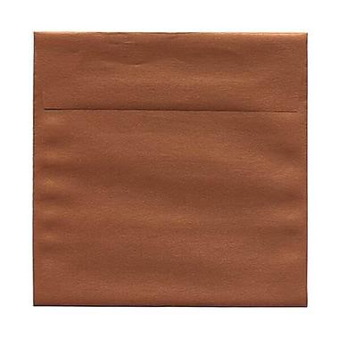 JAM Paper – Enveloppes carrées Stardream métalliques, 6 po, effet cuivre, 50/paquet