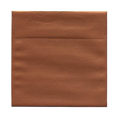 JAM Paper® 6 x 6 Square Envelopes, Stardream Metallic Copper, 250/box (184392H)
