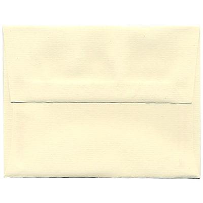JAM Paper® A2 Invitation Envelopes, 4 3/8 x 5 3/4, Strathmore Ivory Laid, 50/Pack (191158I)