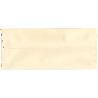 JAM Paper® #10 Business Envelopes, 4 1/8 x 9 1/2, Strathmore Ivory Wove, 50/pack (191165I)