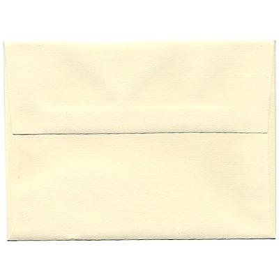 JAM Paper® A6 Invitation Envelopes, 4.75 x 6.5, Strathmore Ivory Laid, 50/Pack (191181I)