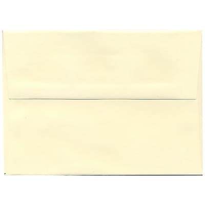 JAM Paper® A7 Invitation Envelopes, 5.25 x 7.25, Strathmore Ivory Wove, 50/pack (191188I)