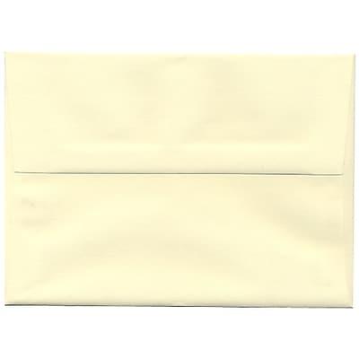 JAM Paper® A7 Invitation Envelopes, 5.25 x 7.25, Strathmore Ivory Laid, 50/Pack (191203I)