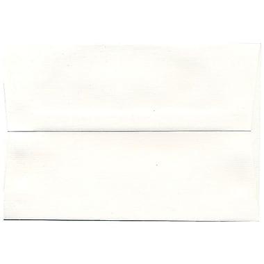 JAM Paper Enveloppe Strathmore A8 en papier recyclé, blanc brillant, 250/paquet