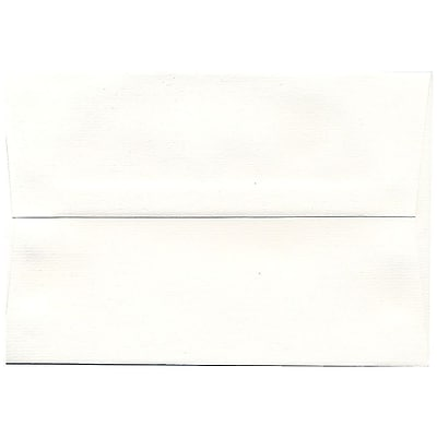 JAM Paper® A8 Invitation Envelopes, 5.5 x 8.125, Strathmore Bright White Pinstripe Recycled, 50/pack (191212I)
