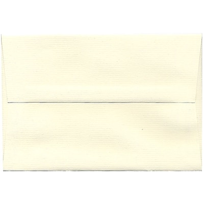 JAM Paper® A8 Invitation Envelopes, 5.5 x 8.125, Strathmore Natural White Pinstripe, 50/pack (191213I)