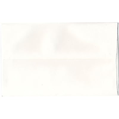 JAM Paper® A10 Invitation Envelopes, 6 x 9.5, Strathmore Bright White Wove, 250/box (191220H)