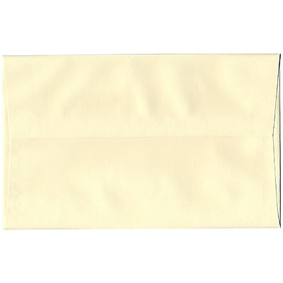 JAM Paper® A10 Invitation Envelopes, 6 x 9.5, Strathmore Ivory Laid, 250/box (191229H)