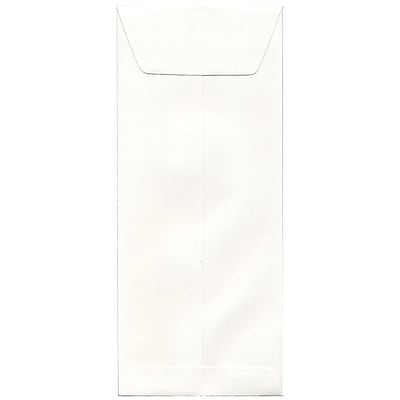 JAM Paper® #12 Policy Envelopes, 4.75 x 11, Strathmore Bright White Wove, 50/pack (191253I)