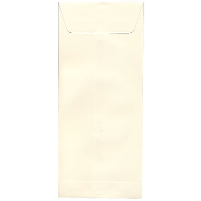 JAM Paper® #14 Policy Envelopes, 5 x 11.5, Strathmore Natural White Wove, 50/pack (191255I)