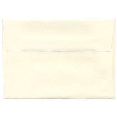 JAM Paper Enveloppes Strathmore A1, papier vélin blanc naturel, 250/paquet