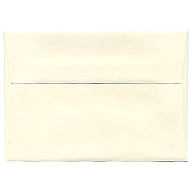 JAM Paper® 4bar A1 Envelopes, 3.63 x 5 1/8, Strathmore Natural White Wove, 250/Pack (194891H)