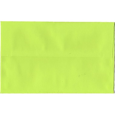 JAM Paper® A10 Invitation Envelopes, 6 x 9.5, Brite Hue Ultra Lime Green, 250/Pack (20835H)