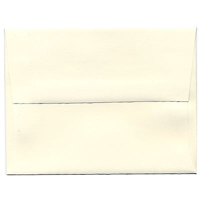 JAM Paper® A2 Invitation Envelopes, 4 3/8 x 5 3/4, Strathmore Natural White Laid, 250/box (26094H)