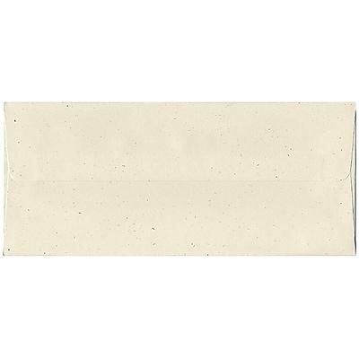 JAM Paper® #10 Business Envelopes, 4 1/8 x 9 1/2, Milkweed Ivory Recycled, 50/pack (2638I)