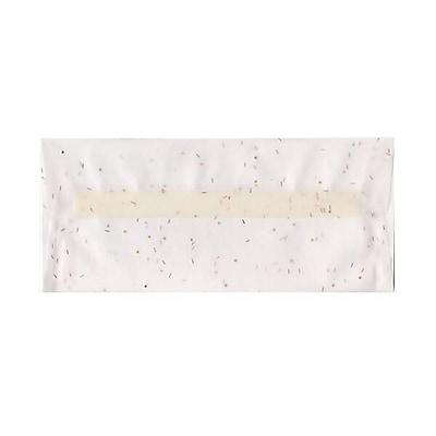 JAM Paper® #10 Business Envelopes, 4 1/8 x 9 1/2, White with Copper Specs Translucent Vellum, 500/box (27140H)