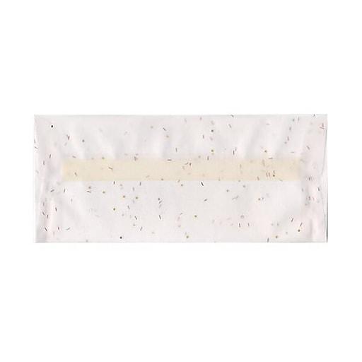 JAM Paper® #10 Business Translucent Vellum Envelopes, 4.125 x 9.5, White with Copper Specks, 50/Pack (27140I)